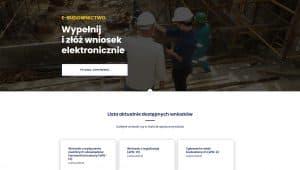 Serwis E-BUDOWNICTWO nowe wnioski w procesie budowlanym