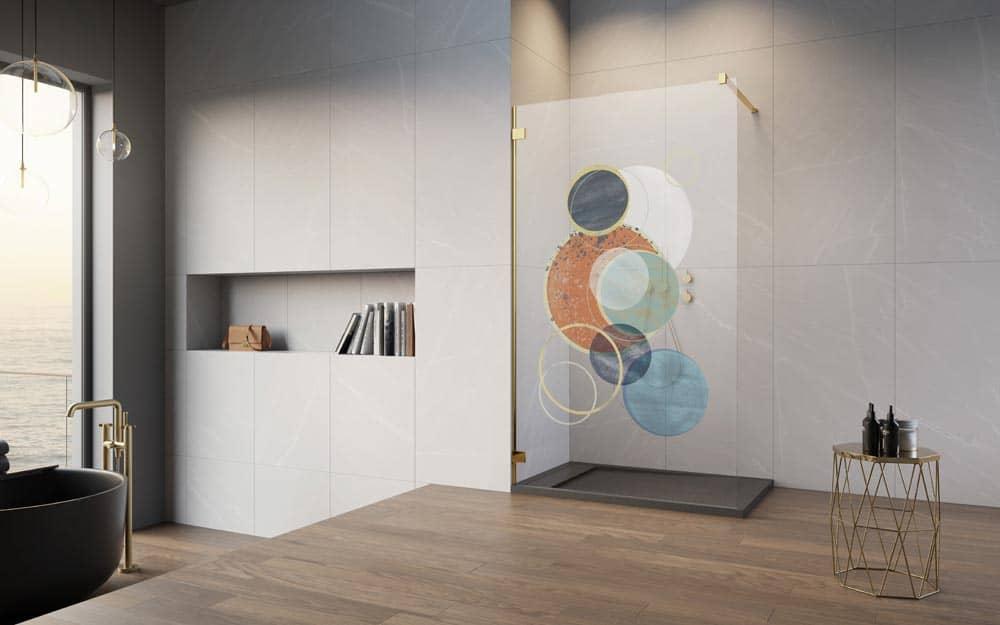 Print Radaway Art, kolorowy nadruk na szkle kabiny prysznicowej