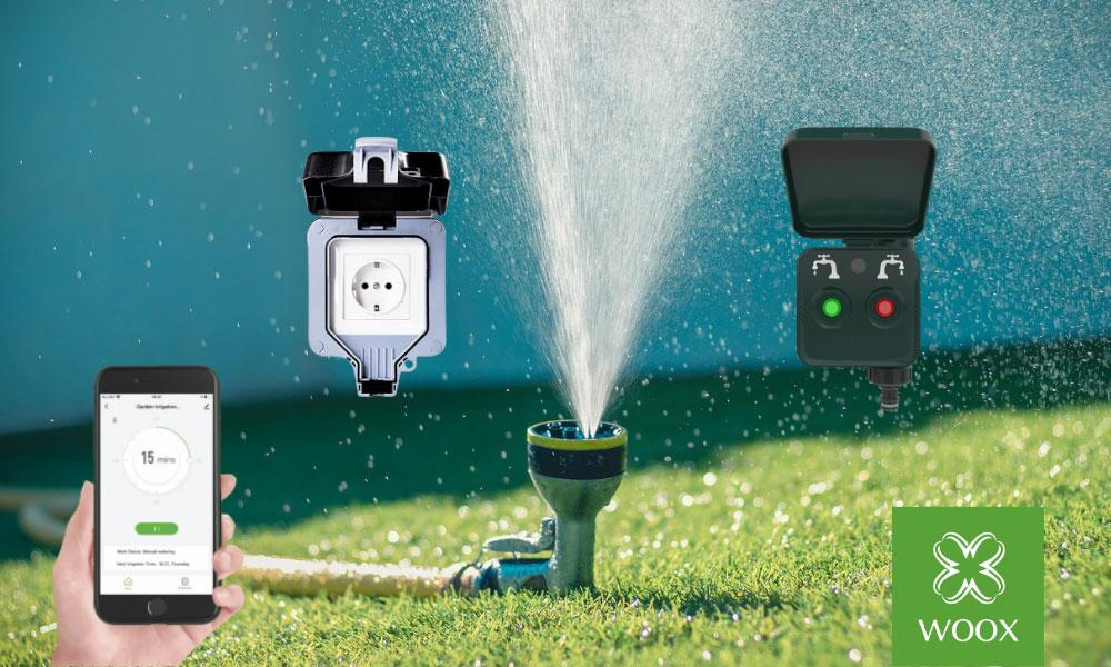 Elektroniczny smart zawór ogrodowy marki Woox