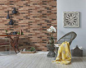 Płytki klinkierowe na ścianę wewnętrzną i zewnętrzną. Kolorystyka i aranżacje. Fot. Elabirck