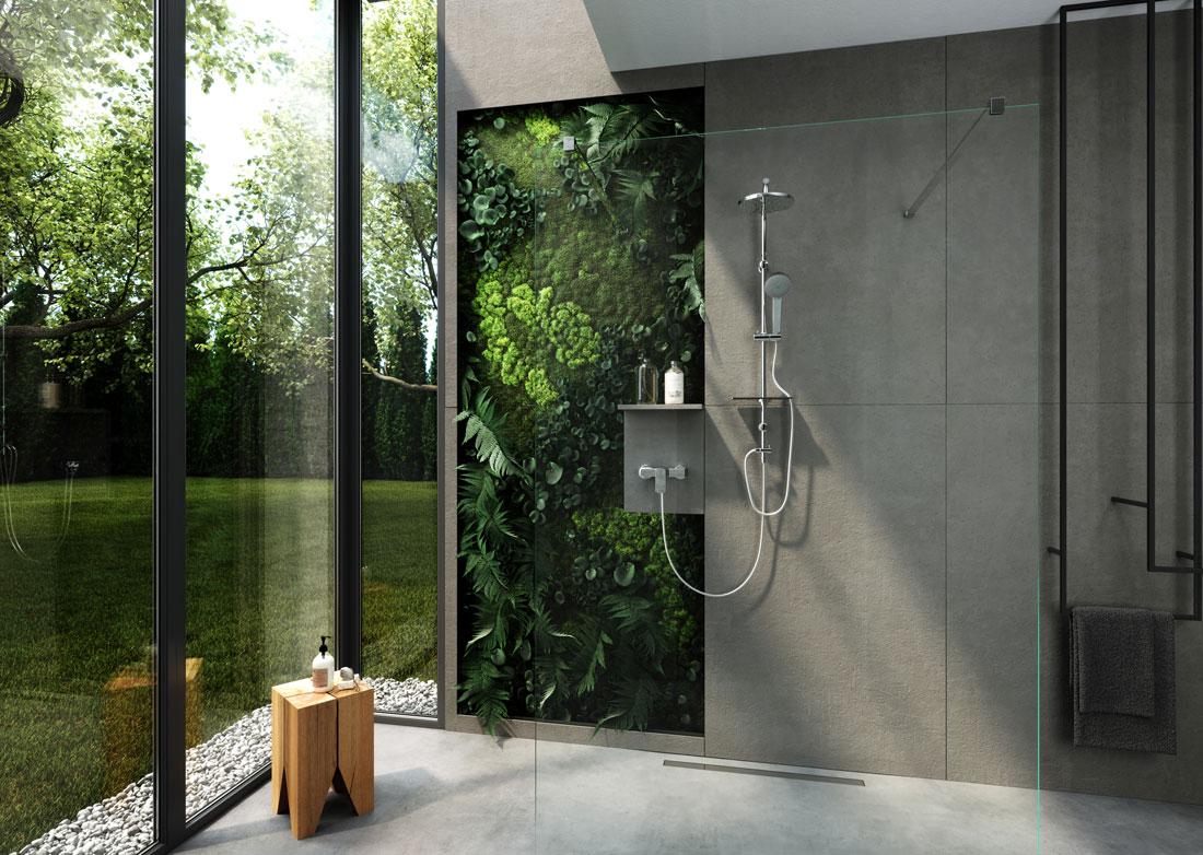 Zestaw natryskowy z deszczownicą do łazienki