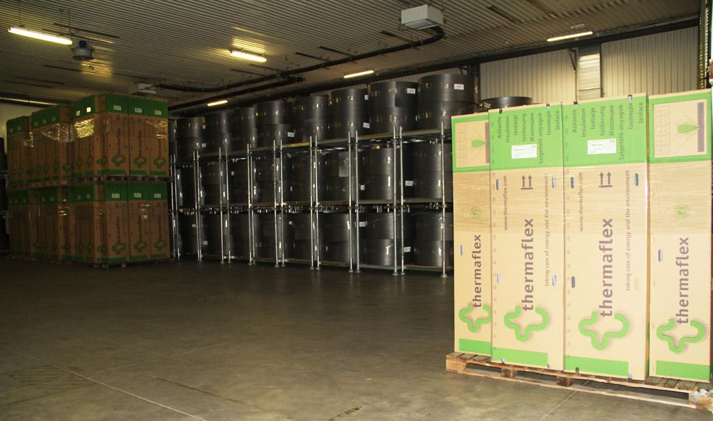 Tehrmaflex producent izolacji termicznej instalacji. Nowy magazyn w Żarowie. Fot. Thermalex