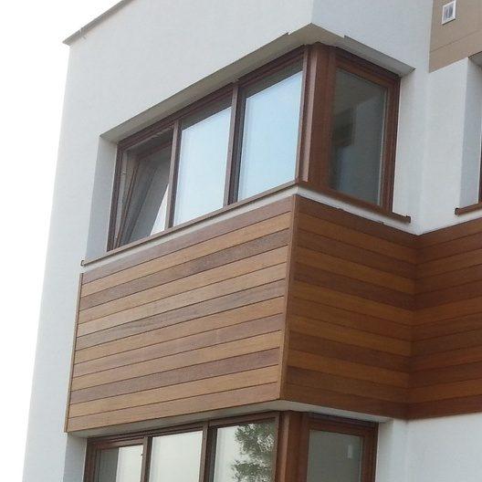 Egzotyczne drewno na elewacji. Fot. JAF Polska