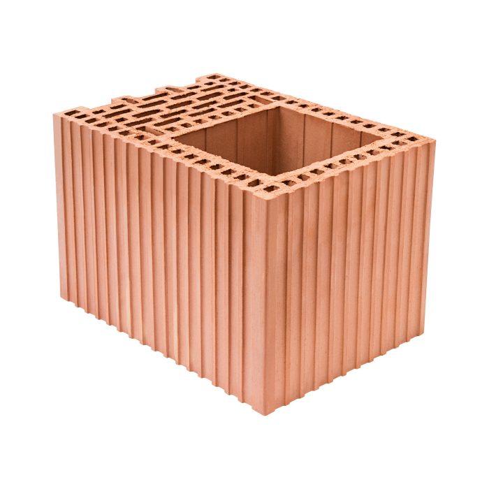 Ceramiczny pustak Porotherm do wykonywania żelbetowych słupów w ścianach